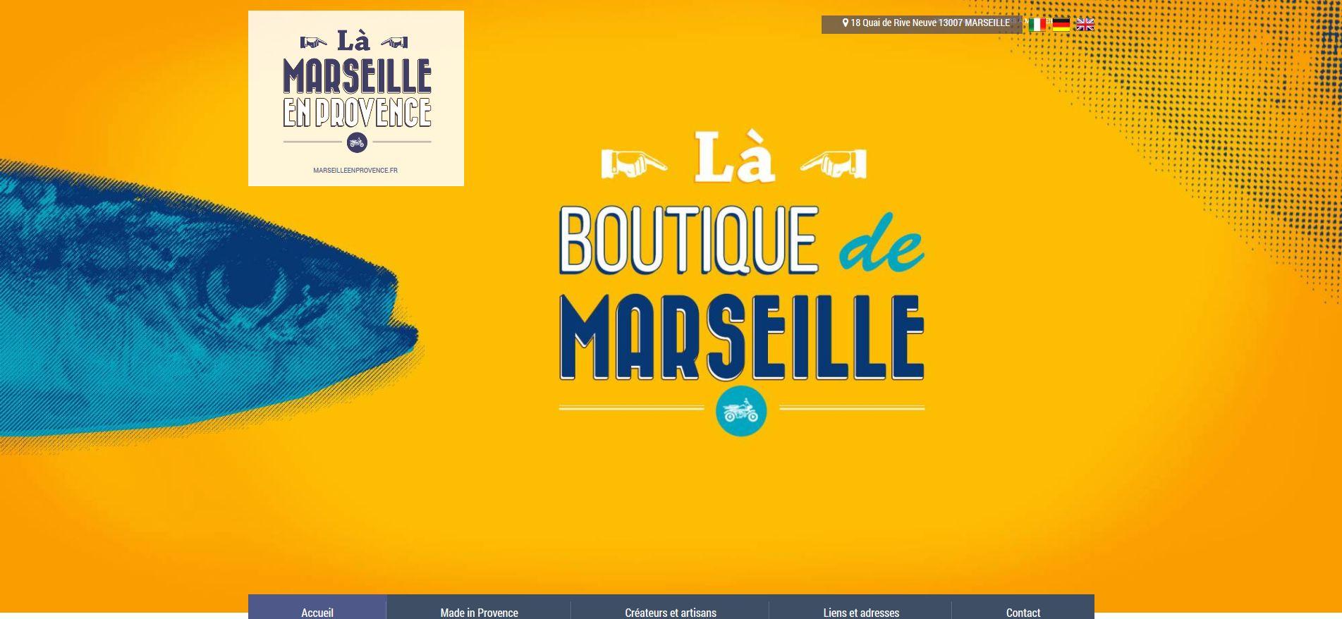 magasin de souvenirs à Marseille vieux-port