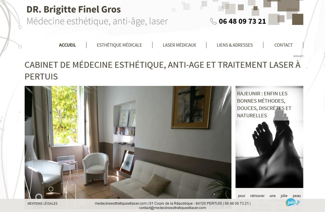 cabinet de m decine esth tique pertuis dr brigitte finel gros agence web marseille jalis. Black Bedroom Furniture Sets. Home Design Ideas