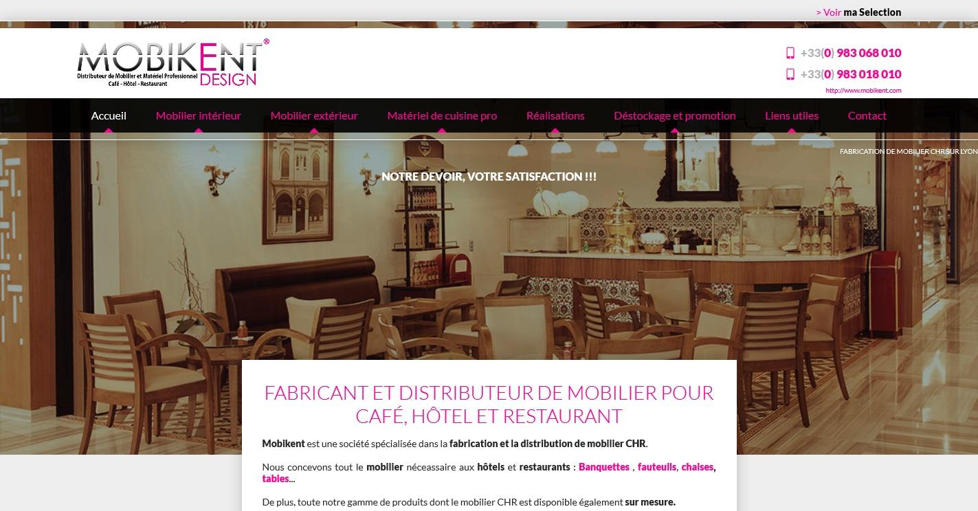 mobilier pour la restauration et l 39 h tellerie lyon mobikent agence web marseille jalis. Black Bedroom Furniture Sets. Home Design Ideas