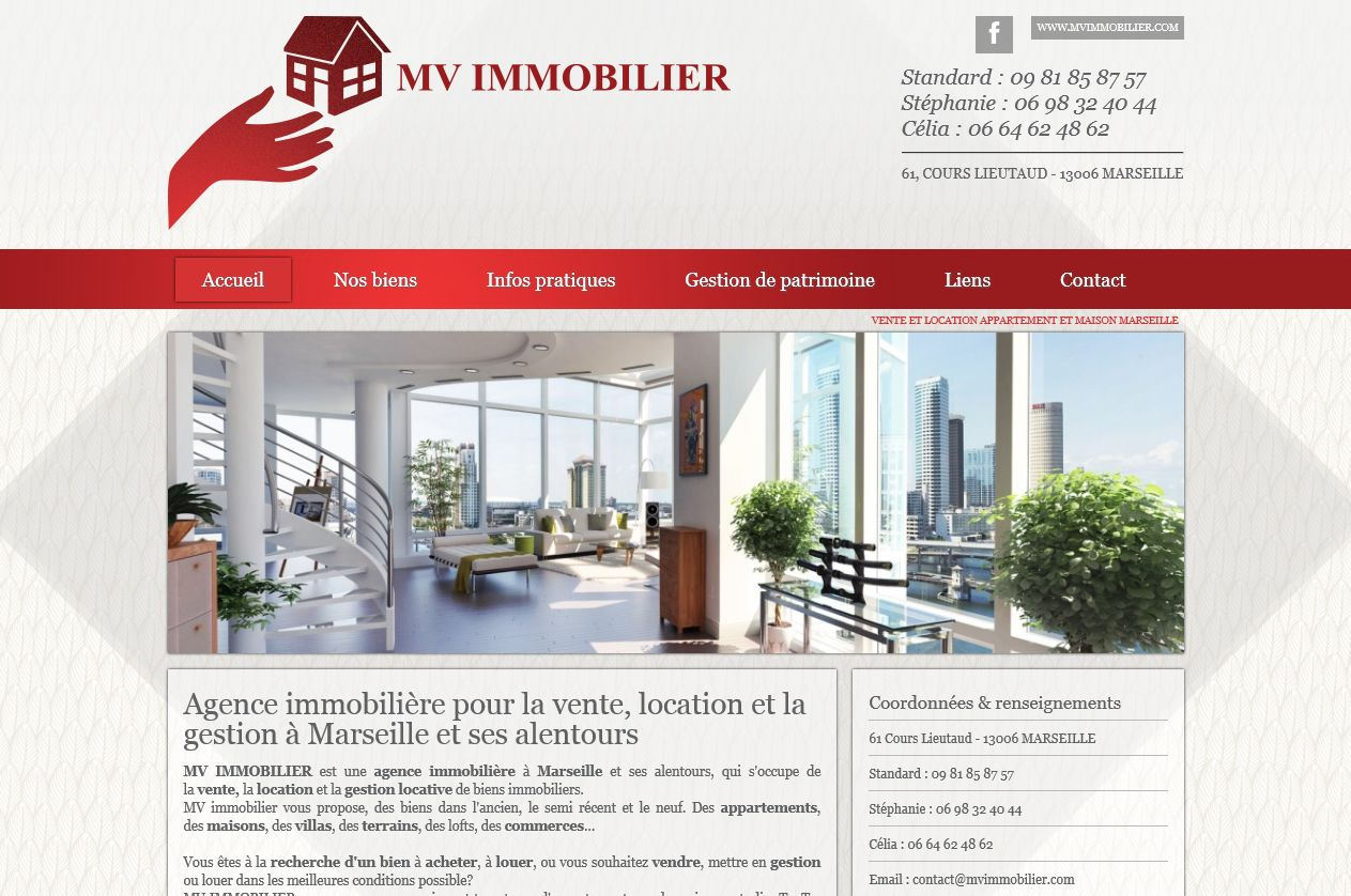 Agence immobili re marseille 13006 mv immobilier site for Agence immobiliere site