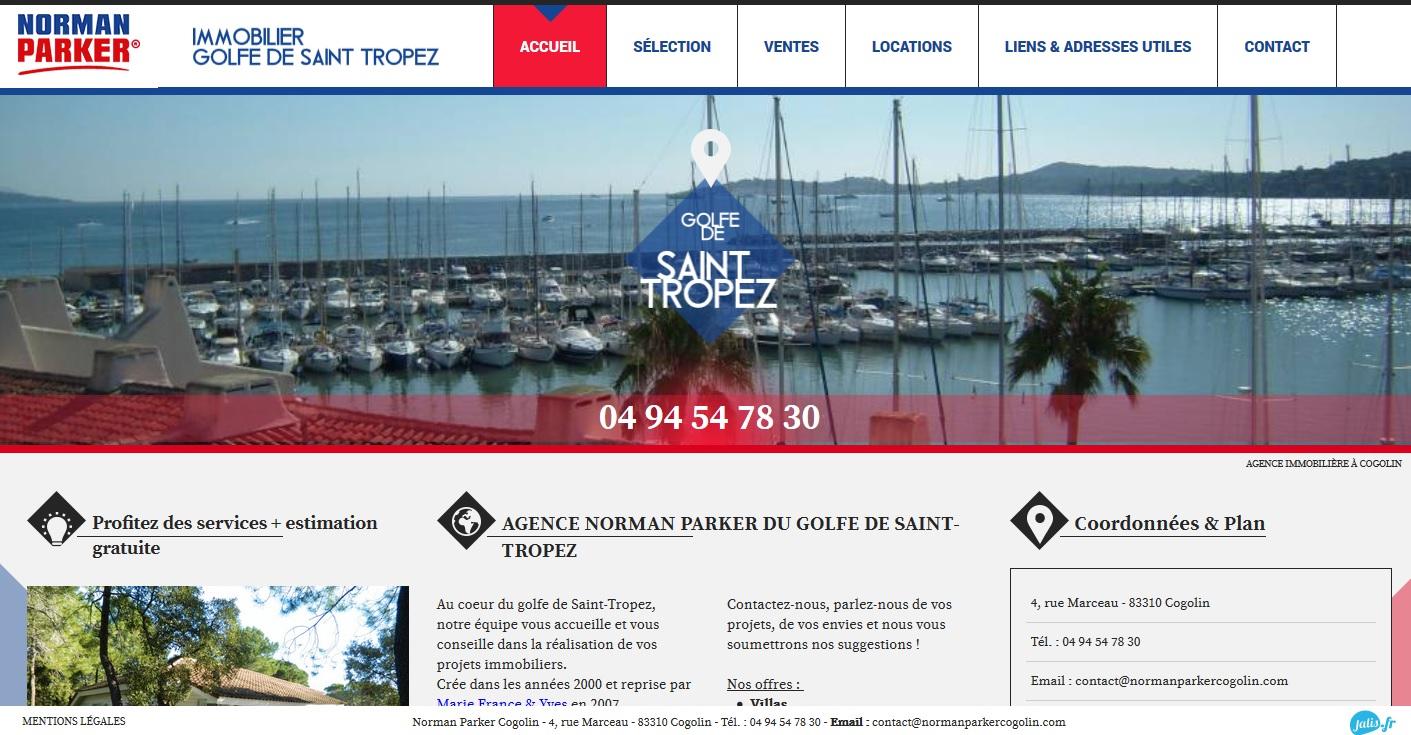 Nos r alisations de sites web pour professionnels marseille for Achat maison cogolin