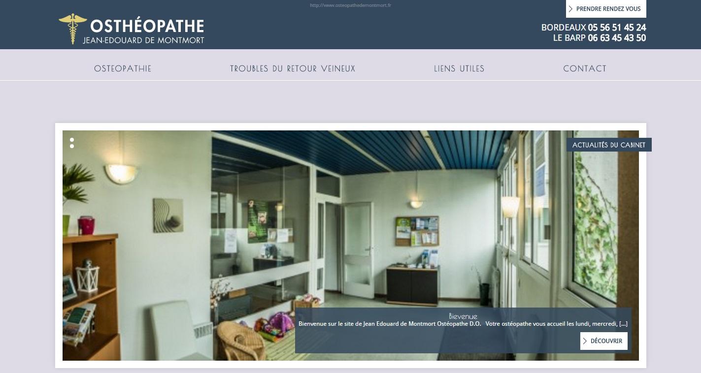 cabinet d 39 ost opathie bordeaux jean edouard de montmort agence web marseille jalis. Black Bedroom Furniture Sets. Home Design Ideas
