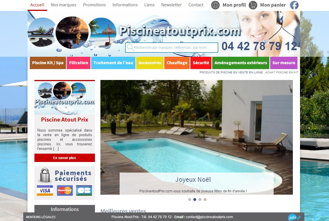 Vente en ligne de piscines en kit et articles de piscine for Article piscine