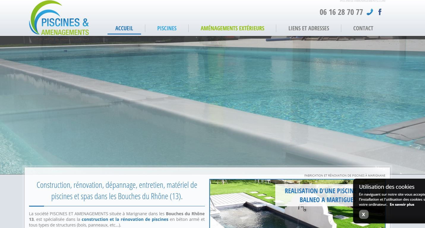 Site web pour constructeur de piscine marignane for Site piscine