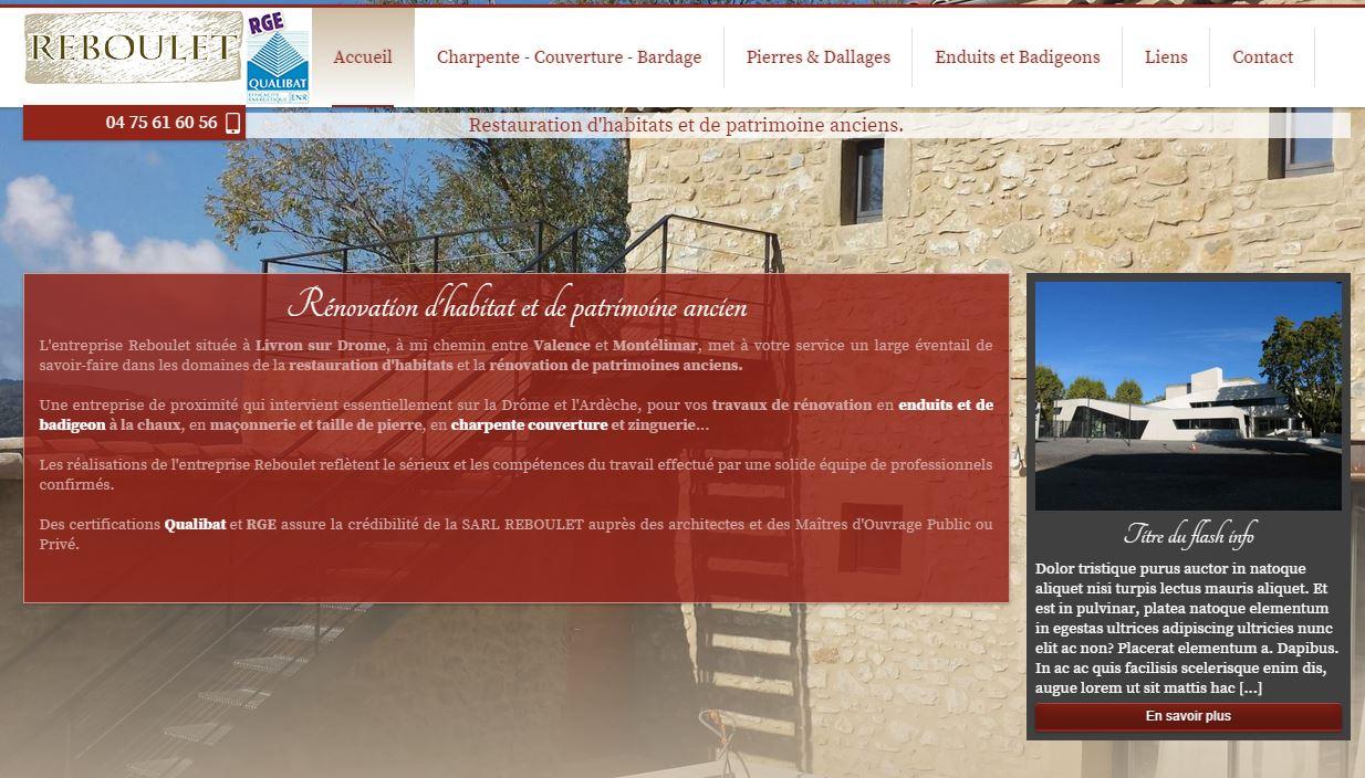 Restauration de bâtiments anciens dans la Drôme