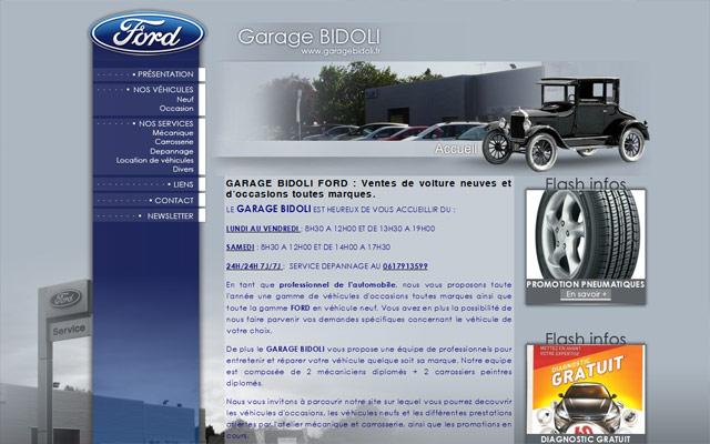 Garage bidoli site internet automobile jalis for Site internet pour garage automobile