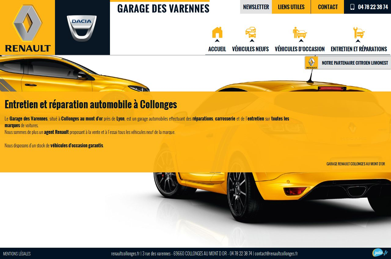Garagiste collonges au mont d 39 or garage des varennes site internet automobile jalis - Garage renault mont riboudet ...