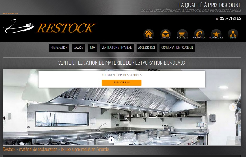 Vente en ligne de mat riel de restauration pour for Materiel de restauration