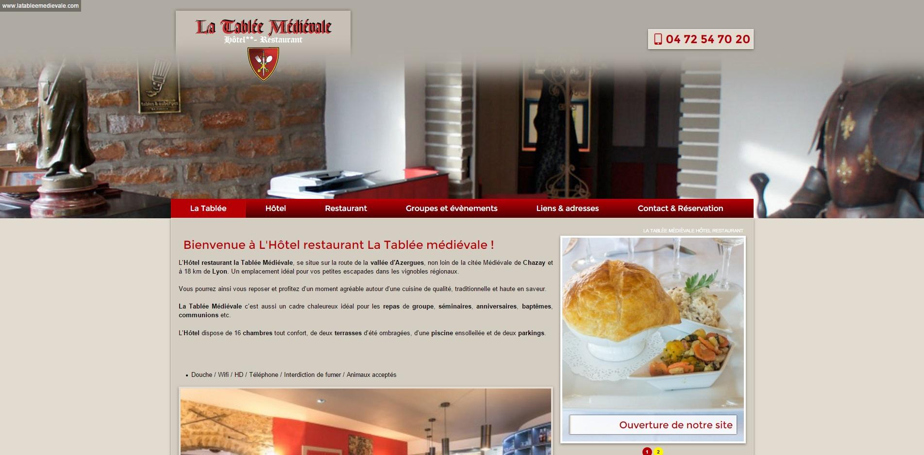 H Tel Restaurant Au Nord De Lyon La Tabl E M Di Vale Agence Web Marseille Jalis