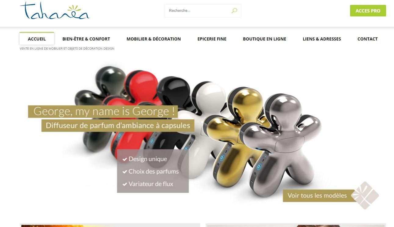 Vente en ligne d'objets design