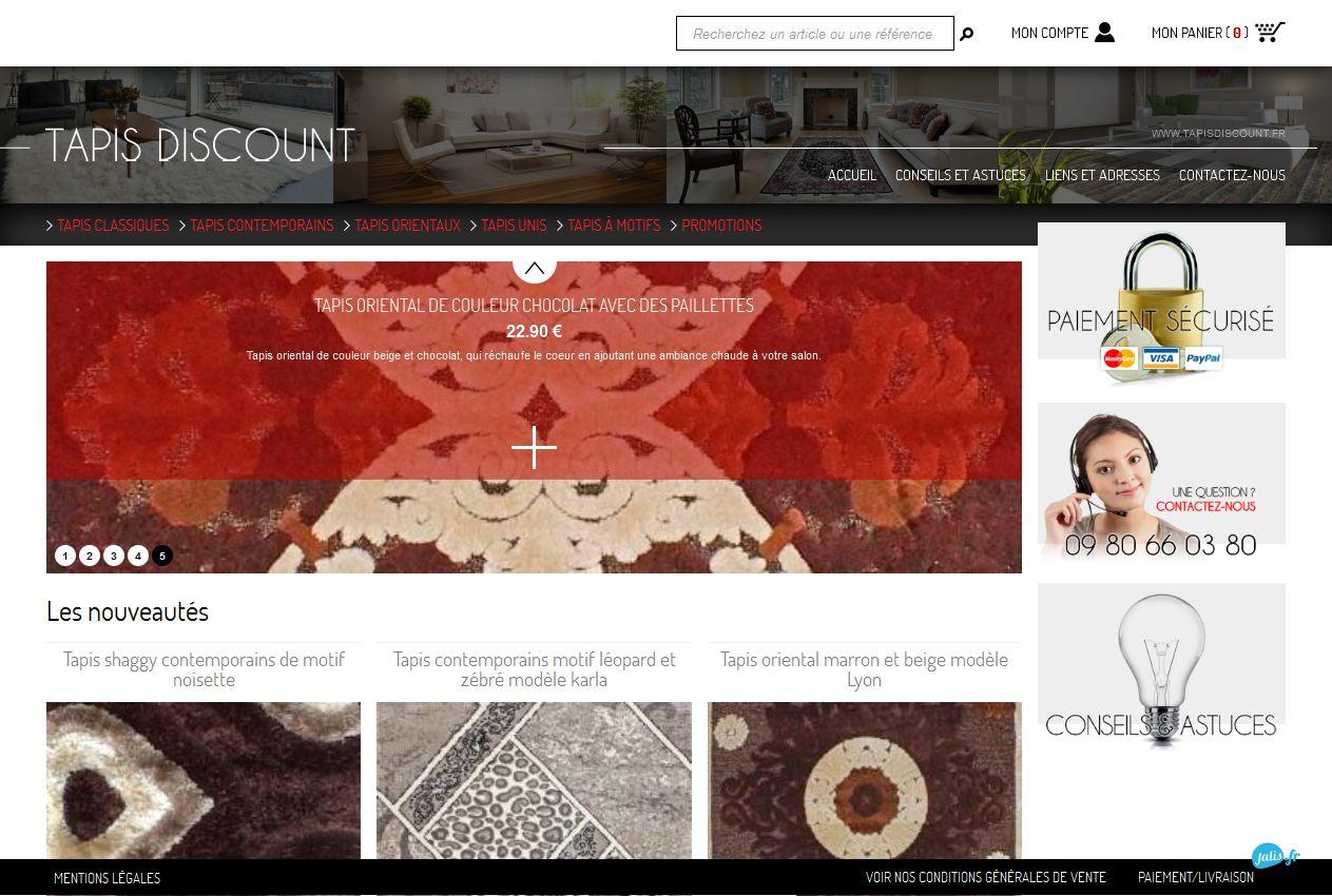 Vente en ligne de tapis pas chers tapis discount agence web marseille jalis - Vente en ligne discount ...