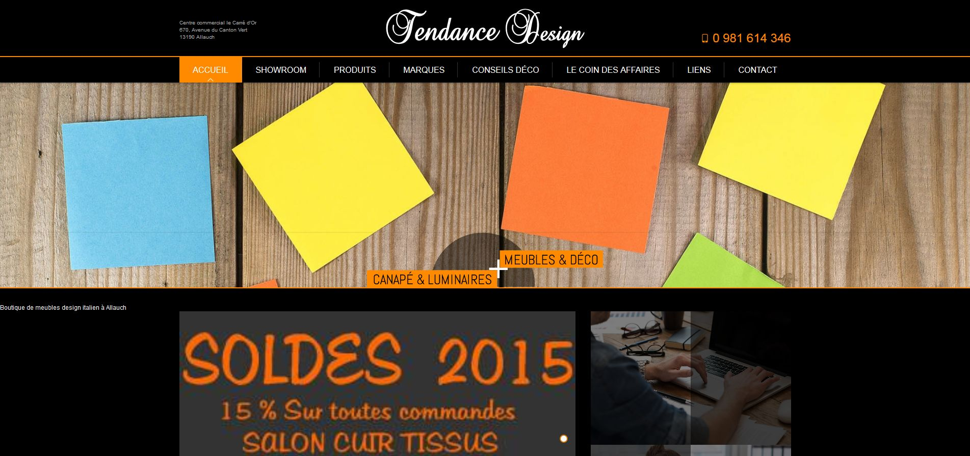 magasin de meubles design allauch tendance design agence web marseille jalis. Black Bedroom Furniture Sets. Home Design Ideas