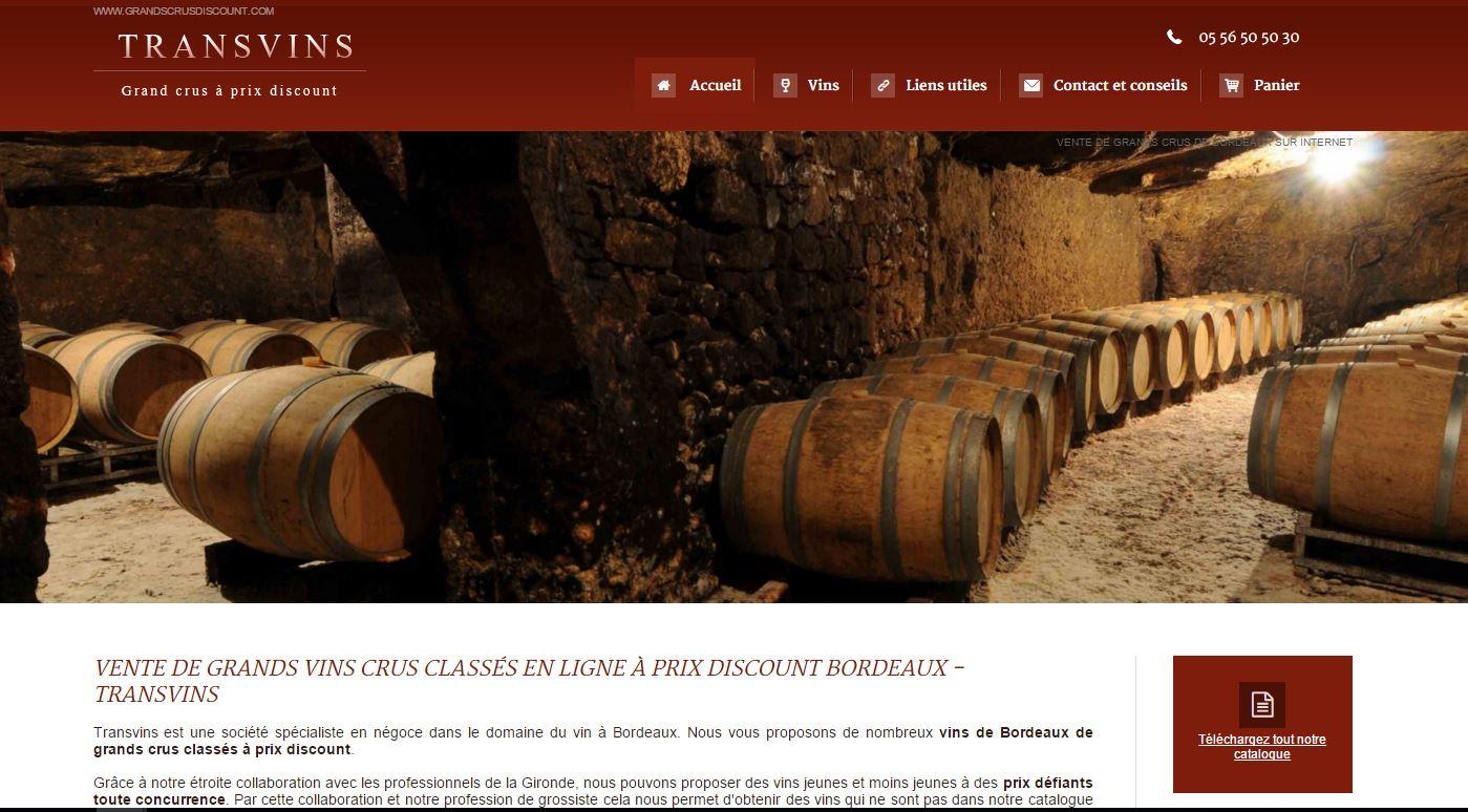 Vente de vins millésimés en ligne