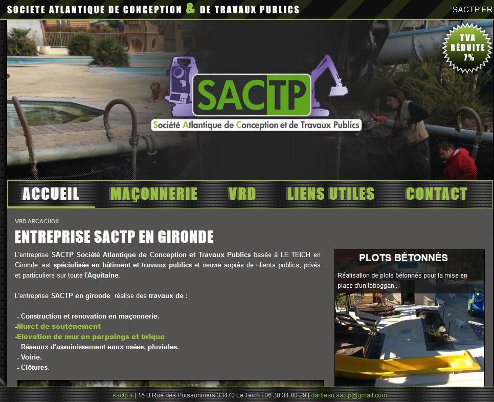 Voirie et terrassement en Gironde SACTP
