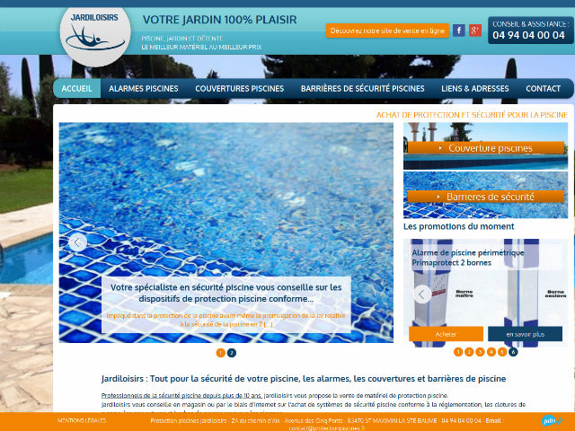 Vente de protection de piscine