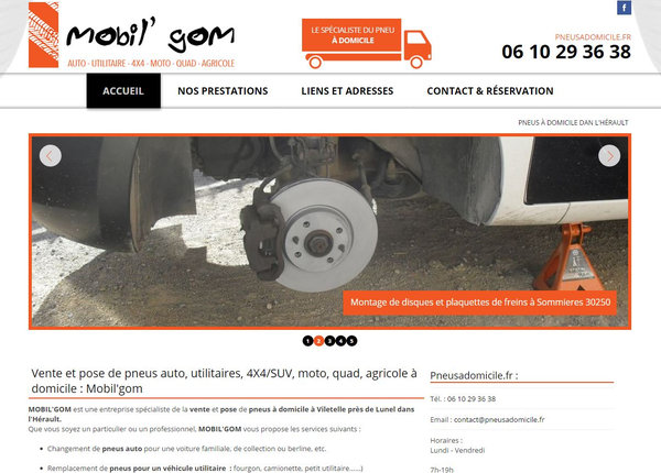 Nos r alisations de sites web pour professionnels marseille for Garage pneu marseille