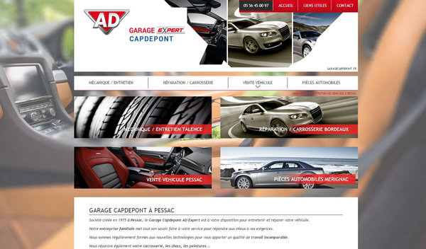 Nos r alisations de sites web pour professionnels marseille for Garage auto pessac