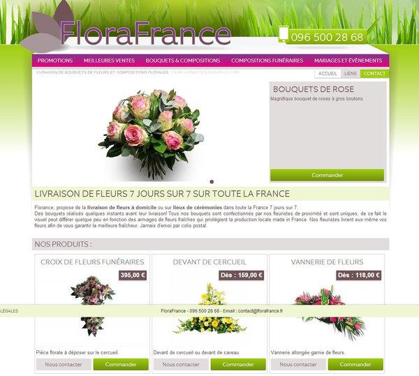 commande et livraison de fleurs florafrance agence web marseille jalis. Black Bedroom Furniture Sets. Home Design Ideas