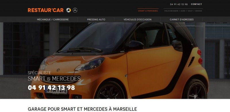 Nos r alisations de sites web pour professionnels marseille for Garage web car saint jean du falga avis
