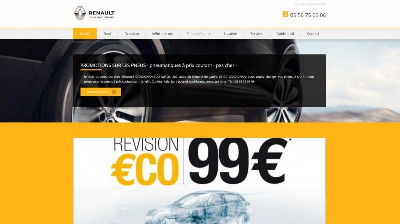 Vente voitures Renault Gradignan