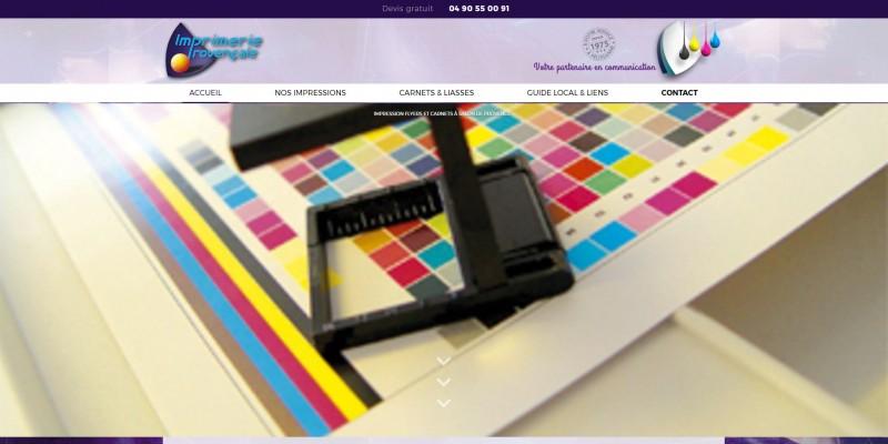 Nos r alisations de sites web pour professionnels marseille for Imprimerie salon de provence