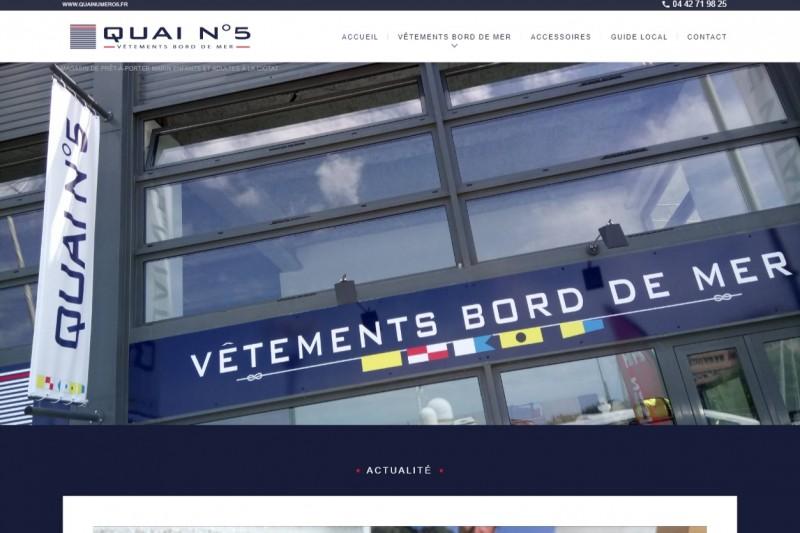 Boutique de vêtements marins à La Ciotat