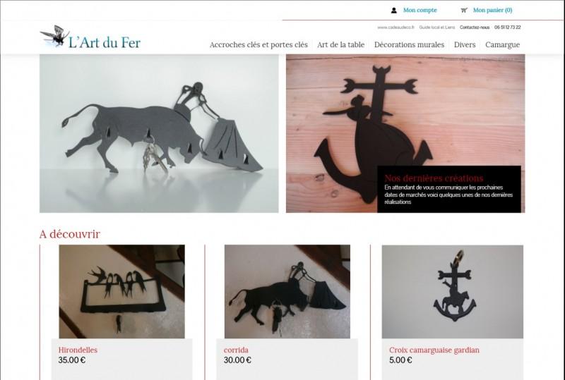 Boutique en ligne de d coration en acier l 39 art de fer for Boutique deco en ligne