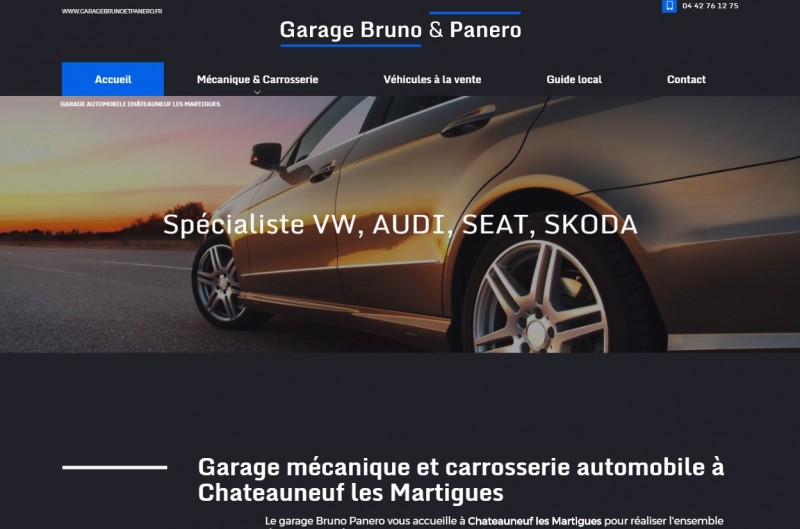 Nos r alisations de sites web pour professionnels marseille for Garage peugeot le baron brunoy