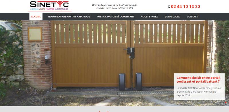Vente et pose de portail avec automatisme à Fécamp