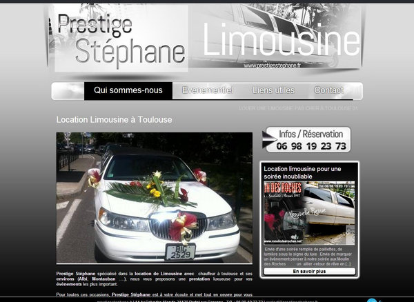 location de limousine pas ch re pr s de toulouse prestige st phane site internet automobile. Black Bedroom Furniture Sets. Home Design Ideas