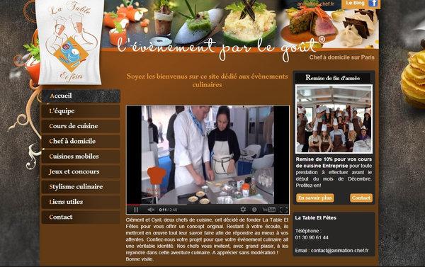 Nos r alisations de sites web pour professionnels marseille - Cours de cuisine boulogne billancourt ...