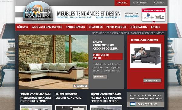 un magasin de meubles pas chers n mes mobilier du midi r alisations agence de communication. Black Bedroom Furniture Sets. Home Design Ideas