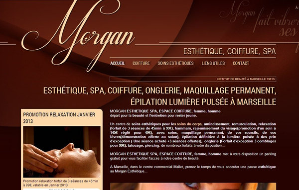 Nos r alisations de sites web pour professionnels marseille for Salon esthetique marseille