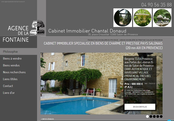 Nos r alisations de sites web pour professionnels marseille - Immo concept salon de provence ...