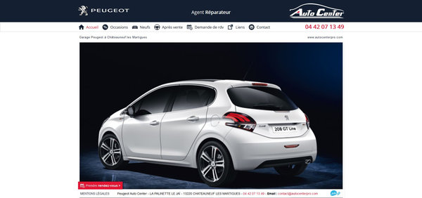 Nos r alisations de sites web pour professionnels marseille for Garage peugeot martigues