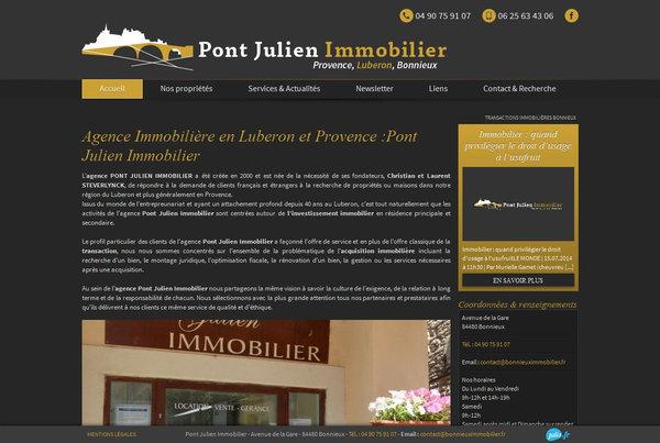 Agence immobili re de prestige bonnieux pont julien for Agence immobiliere site