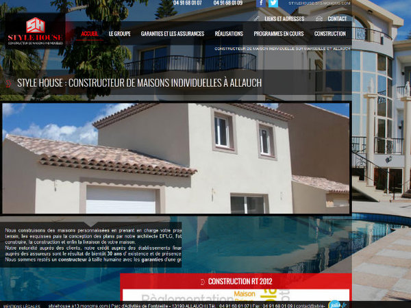 Nos r alisations de sites web pour professionnels marseille for Architecte marseille maison individuelle