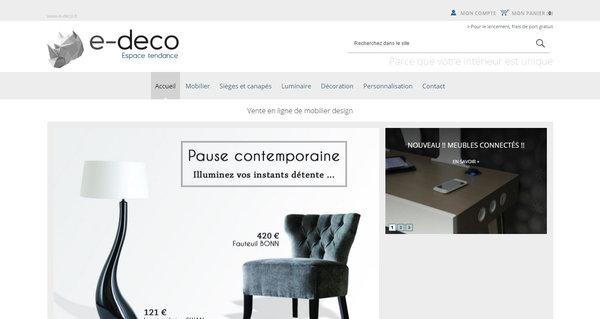 Boutique en ligne de mobilier design e deco agence web - Boutique deco vintage en ligne ...