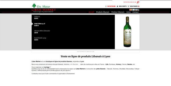 vente en ligne de produits libanais