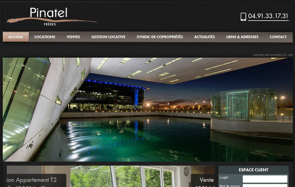 Agence immobili re marseille 13001 cabinet fr res pinatel site internet immobilier jalis - Cabinet lieutaud marseille syndic ...