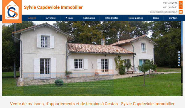 Nos r alisations de sites web pour professionnels marseille for Clt immobilier cestas